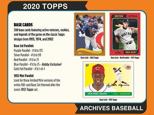 MLB 2020 TOPPS ARCHIVES box #LuisRobert #BoBichette #Topps