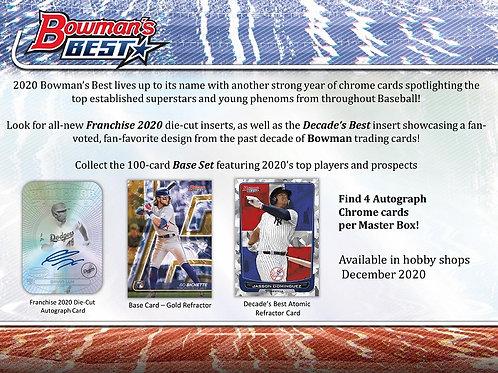 MLB 2020 BOWMANS BEST Baseball box #BOWMAN #TOPPS