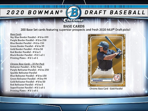 MLB 2020 BOWMAN DRAFT ASIA Baseball box #ボウドラ #BOWMAN #TOPPS
