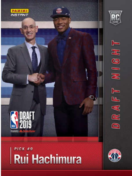 Rui Hachimura 2019-20 NBA INSTANT DRAFT NIGHT BASE #nba #Hachimura #八村塁
