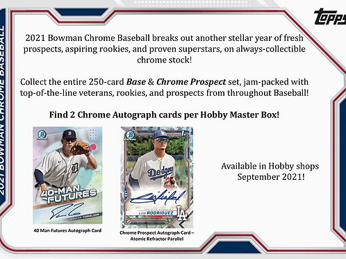 MLB 2021 BOWMAN CHROME HOBBY Baseball box #BOWMAN #野球カード