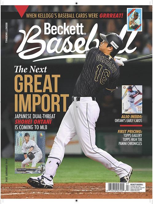 MLB【入荷】大谷翔平 1stカバー #143号 BECKETT PRICE GUIDE