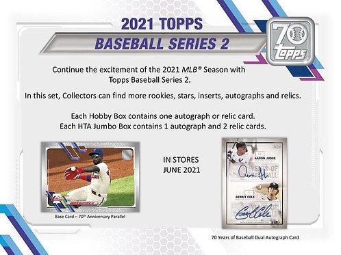 MLB 2021 TOPPS ser2 Hobby Baseball box #TOPPS #野球カード #メジャーリーグ
