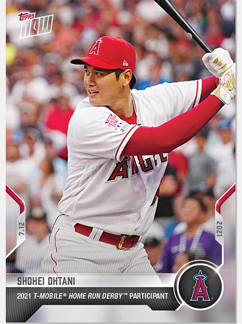 大谷翔平 2021 MLB TOPPS NOW Card 496 HOMERUN DERBY #大谷翔平 #大谷カード #ShoheiOhtani