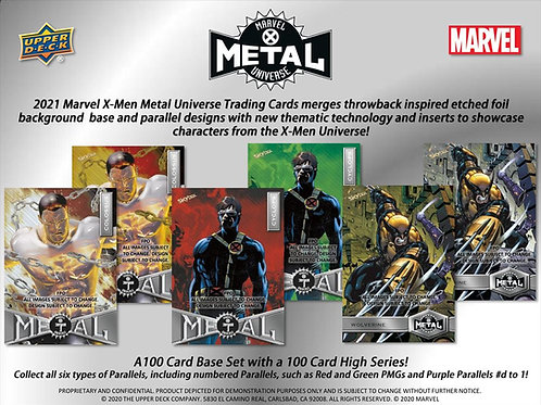 2021 Upper Deck UD Marvel X-Men Metal Universe box #Marvel #マーベル #PMG #スケッチカード