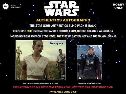 2020 Topps Star Wars Authentics Autographed 8x10 #StarWars #スターウォーズ