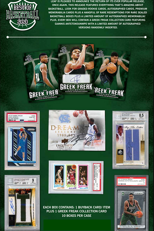 NBA 2020 LEAF BEST OF BASKETBALL box #NBA #buyback #Giannis #Prizm