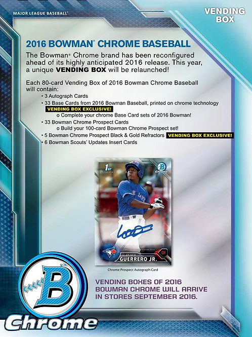 MLB 2016 BOWMAN CHROME VENDING BOX #GUERRERO #BO