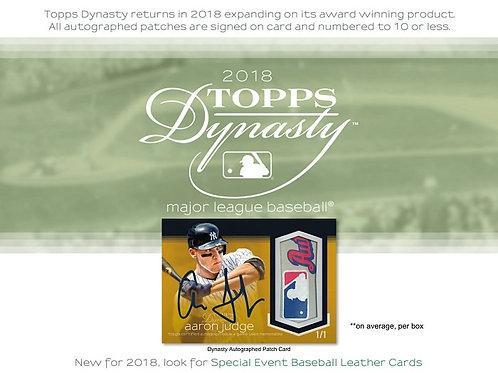 MLB 2018 TOPPS DYNASTY Baseball box