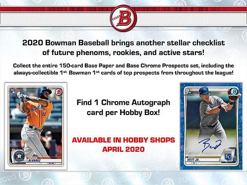 MLB 2020 BOWMAN Hobby Baseball box #TOPPS #BASEBALL #MLB #Bowman