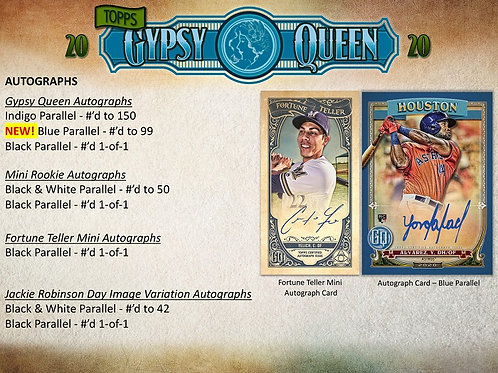 MLB 2020 TOPPS Gypsy Queen Baseball box #TOPPS #BASEBALL #MLB #alvarez
