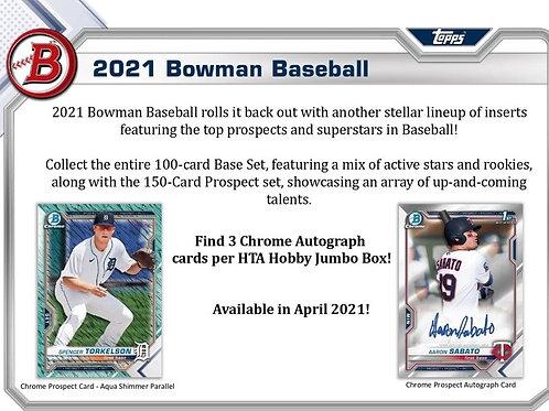 MLB 2021 BOWMAN JUMBO box #BOWMAN #TOPPS #MLB