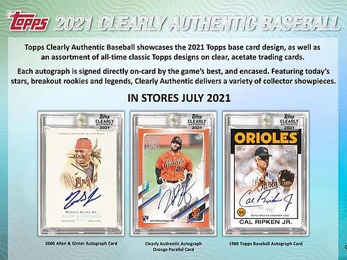 MLB 2021 TOPPS CLEARLY AUTHENTIC Baseball box #TOPPS #野球カード #メジャーリーグ