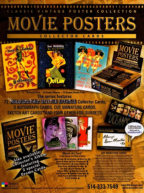 BREYGENT Celebrity Movie Posters Collector Cards box #MOVIE #POSTER