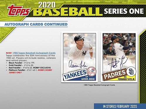 MLB 2020 Topps Series 1 Hobby box #TOPPS #BASEBALL #MLB