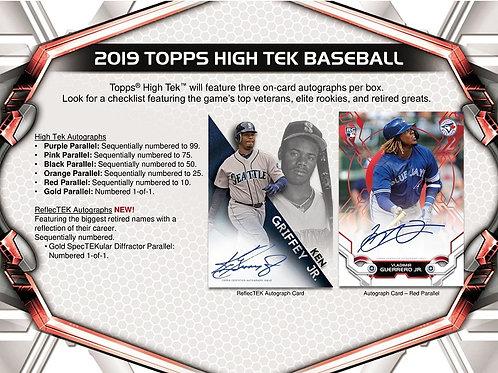 MLB 2019 TOPPS High Tek box 1ボックス=サイン3枚入り #petealonso #guerrerojr