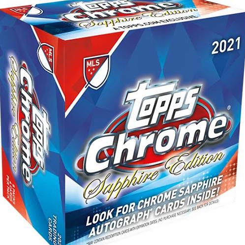 SOCCER 2021 TOPPS MLS CHROME SAPPHIRE box #Topps #RicardoPepi #CadenClark