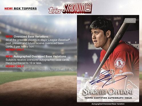 BGB1127 MLB 2019 TOPPS STADIUM CLUB 1case 16-BOX DRAFT #MLB #大谷翔平