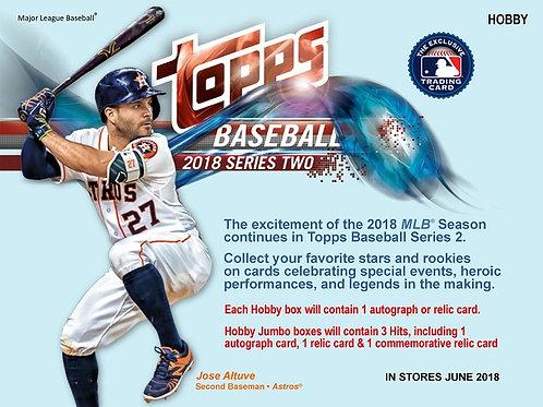 MLB 2018 TOPPS Ser.2 JUMBO BOX+シルバーパック2P #大谷翔平 #大谷カード