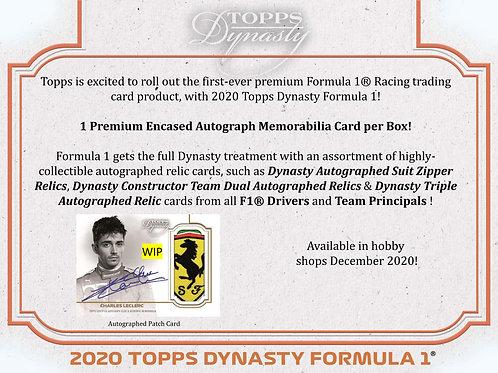 2020 TOPPS DYNASTY F1 box #F1 #Formula1 #サインカード