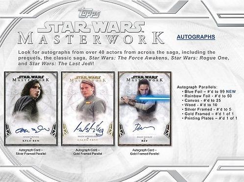 映画トレカ 2018 Topps Star Wars MASTERWORK box #スターウォーズ