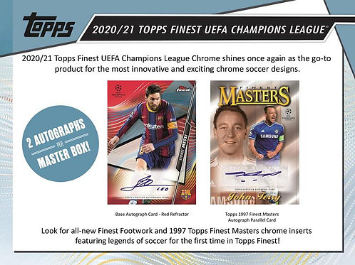 SOCCER 2020-21 TOPPS FINEST UEFA CHAMPIONS LEAGUE box #Messi #Bellinhgam