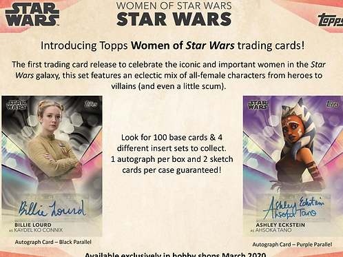 映画 2019 Topps WOMAN OF Star Wars box #スターウォーズ #StarWars #直筆サイン #スケッチカード
