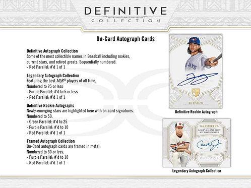 MLB 2020 TOPPS DEFINITIVE Baseball box #TOPPS #BASEBALL #MLB #BoBichette
