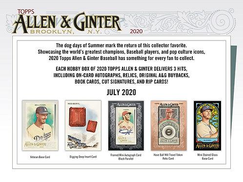 MLB 2020 TOPPS Allen & Ginter Baseball box #LuisRobert #BoBichette #Topps