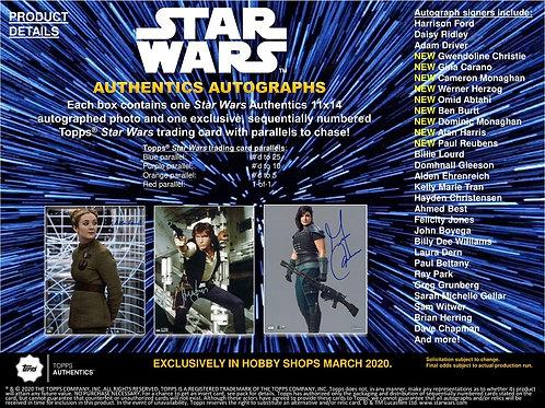 映画 2019 Topps Star Wars Authentics 11x14 box #スターウォーズ #StarWars #直筆サインフォト