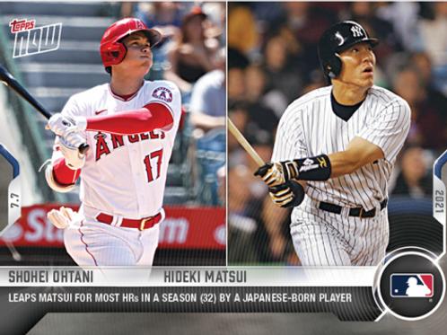 大谷翔平 2021 MLB TOPPS NOW Card #475 SEASON 32HR #大谷翔平 #松井秀喜 #ShoheiOhtani