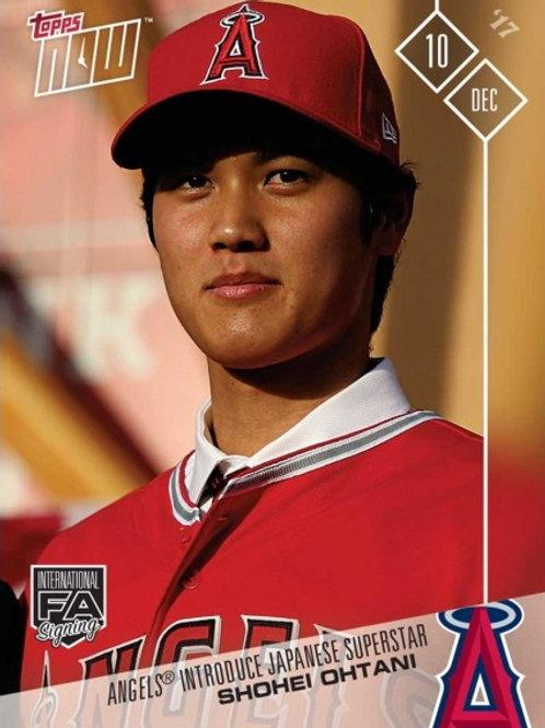 MLB 2018 TOPPS NOW 大谷翔平 1st メジャーリーグカード OS-80
