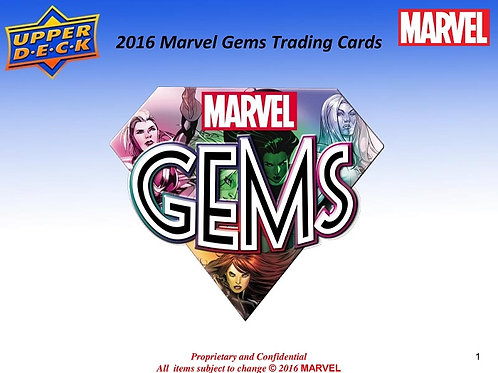 マーベル・コミック系 2016 UD MARVEL GEMS box #MARVEL #COMIC #マーベル
