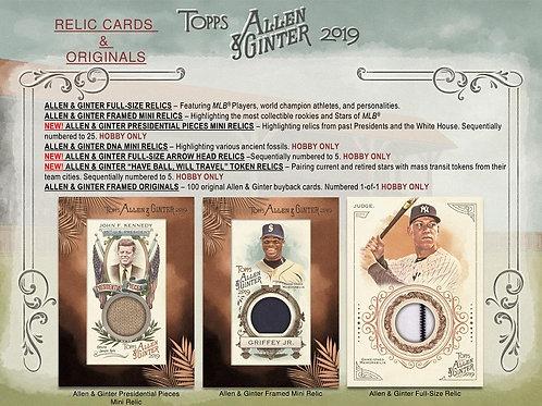 MLB 2019 TOPPS ALLEN & GINTER box #MLB #TOPPS #大谷翔平 #タイガーマスク