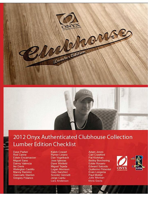 MLB 2012 ONYX CLUBHOUSECOLLECTION LUMBER ゲーム・ユーズド・バット