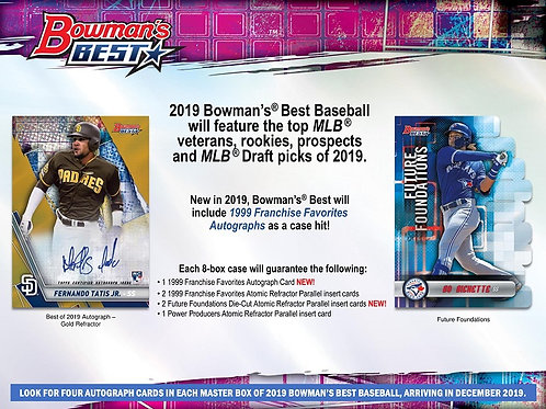 MLB 2019 BOWMANS BEST box #bowman #TatisJr #GuerreroJr #bowman