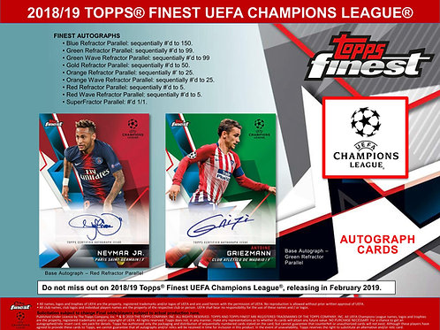 SOCCER 2018-19 Topps Finest UEFA Champions League box #トップス