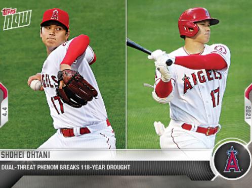 大谷翔平 2021 MLB TOPPS NOW Card #30 DUAL-THREAT 大谷翔平 #ShoheiOhtani