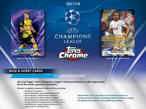 SOCCER 2018 TOPPS CHROME CHAMPIONS LEAGUE box #MBAPPE #MESSI
