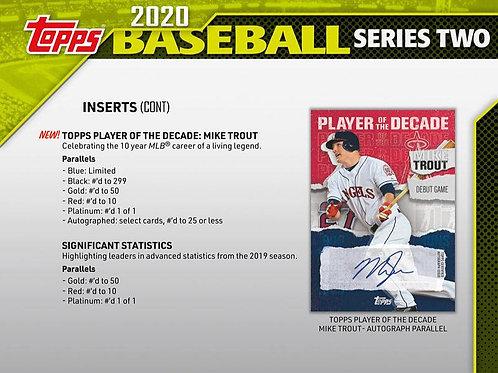 MLB 2020 TOPPS Ser.2 HOBBY box #TOPPS #BASEBALL #MLB #BoBichette