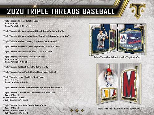 MLB 2020 TOPPS TRIPLE THREADS Baseball box #LuisRobert #MikeTrout #MLB