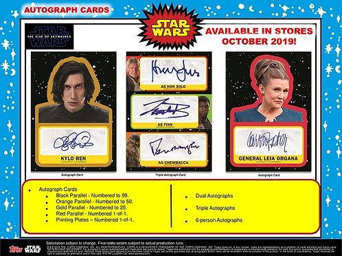 映画 2019 Topps Star Wars Journey To The Rise of Skywalker box #スターウォーズ #StarWars