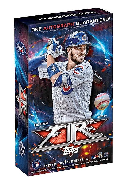 MLB 2018 TOPPS FIRE Baseball box #TARGET #大谷翔平 #大谷カード