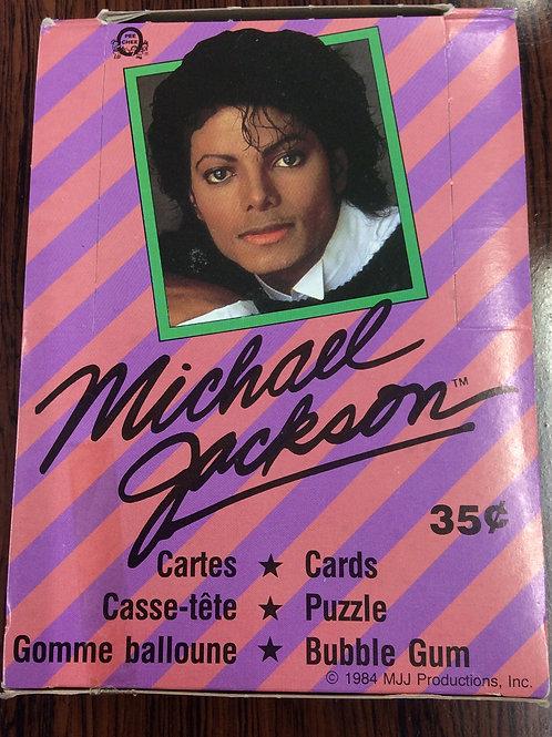 激レア 1984 TOPPS MICHAEL JACKSON Trading Cards box #MICHAELJACKSON #MJ #マイケルジャクソン