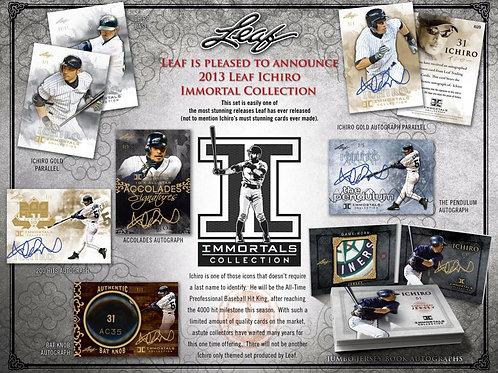 MLB 2013 LEAF ICHIRO Immortals Collection box