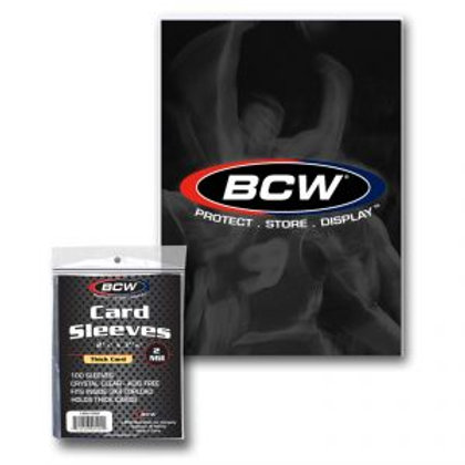 BCW CARD THICK SLEEVES 75PT~180PT #収集用品