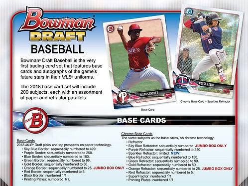 MLB 2018 BOWMAN DRAFT JUMBO Baseball box #ボウドラ #メジャーリーグ