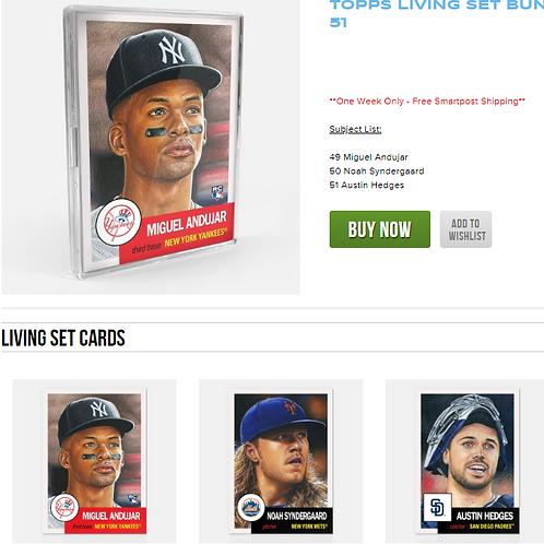 TOPPS LIVING SET Week17 3cards set #mlb #baseball #toppslivingset