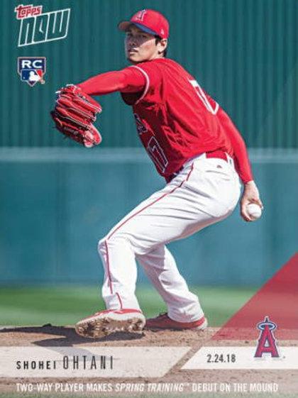 【入荷】MLB 2018 TOPPS NOW 大谷翔平 RC ピッチャー メジャーリーグカード ST-4