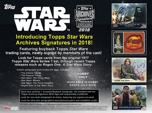 映画トレカ 2018 Topps Star Wars Archives Signature Series #スターウォーズ